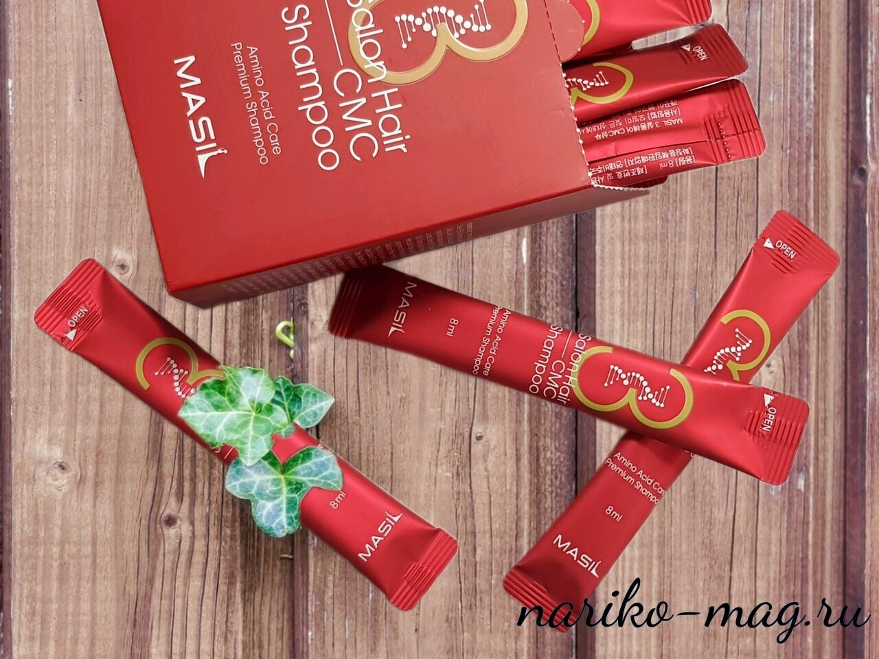 Шампунь с 17 аминокислотами MASIL 3 Salon Hair CMC Shampoo, 8 мл.
